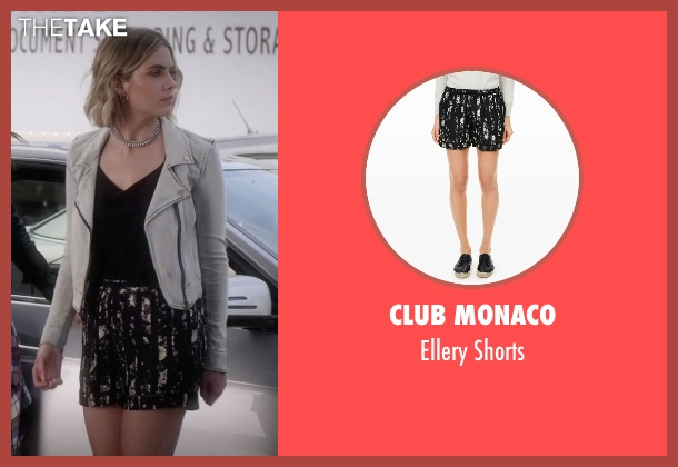 Club Monaco black shorts from Pretty Little Liars seen with Hanna Marin (Ashley Benson)