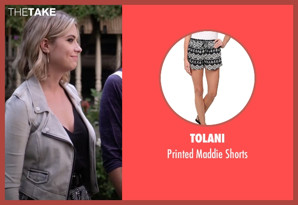 Tolani black shorts from Pretty Little Liars seen with Hanna Marin (Ashley Benson)