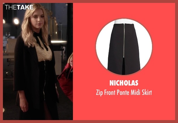 Nicholas black skirt from Pretty Little Liars seen with Hanna Marin (Ashley Benson)