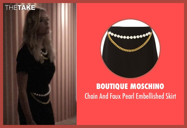 Boutique Moschino   black skirt from Pretty Little Liars seen with Hanna Marin (Ashley Benson)