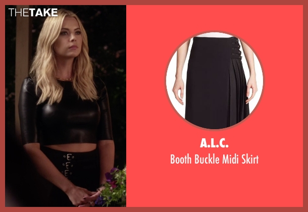 A.L.C. black skirt from Pretty Little Liars seen with Hanna Marin (Ashley Benson)