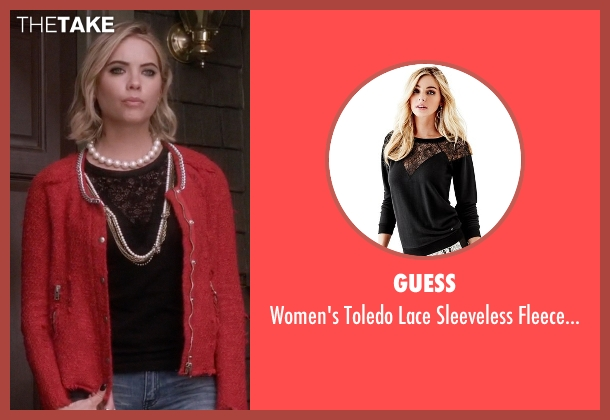 Guess black sweater from Pretty Little Liars seen with Hanna Marin (Ashley Benson)