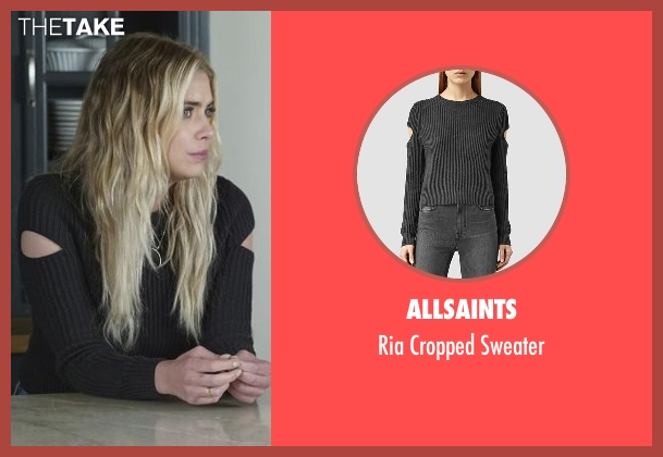 AllSaints black sweater from Pretty Little Liars seen with Hanna Marin (Ashley Benson)