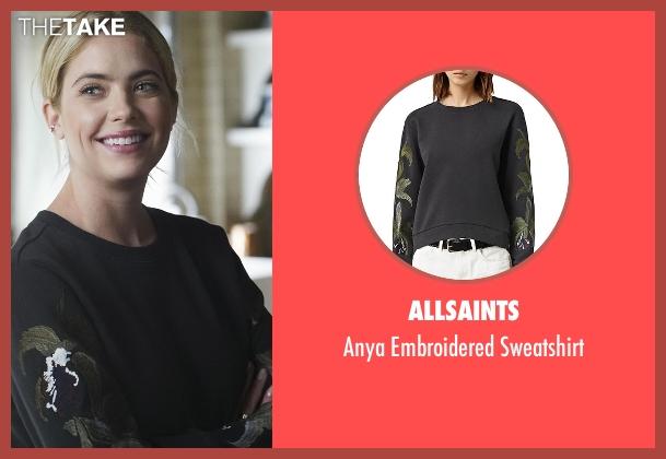 AllSaints  black sweatshirt from Pretty Little Liars seen with Hanna Marin (Ashley Benson)