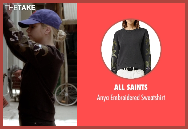 All Saints black sweatshirt from Pretty Little Liars seen with Hanna Marin (Ashley Benson)