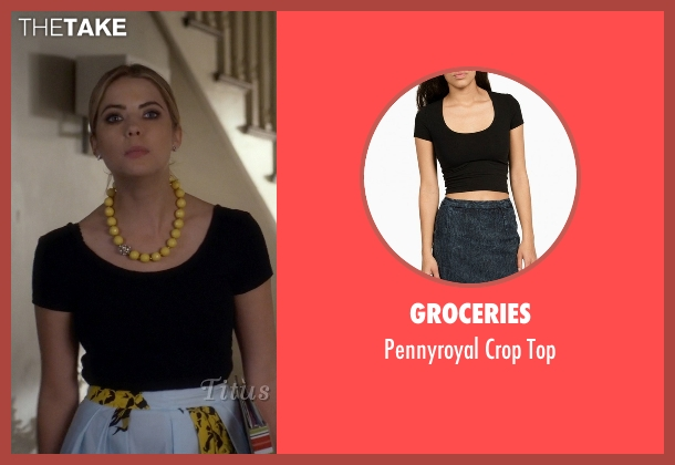 Groceries black top from Pretty Little Liars seen with Hanna Marin (Ashley Benson)