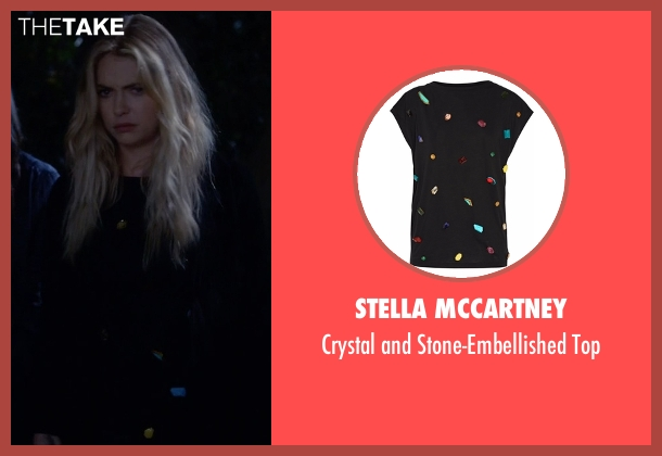 Stella McCartney black top from Pretty Little Liars seen with Hanna Marin (Ashley Benson)