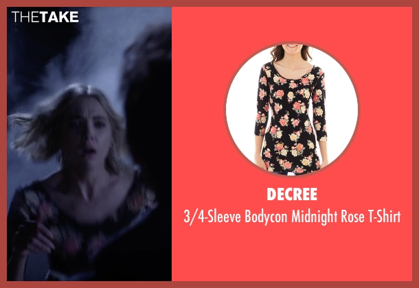 Decree black t-shirt from Pretty Little Liars seen with Hanna Marin (Ashley Benson)