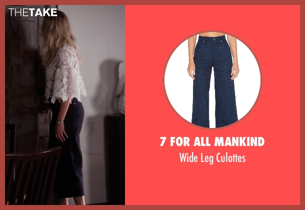 7 For All Mankind blue culottes from Pretty Little Liars seen with Hanna Marin (Ashley Benson)