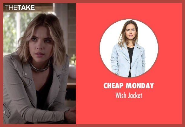 Cheap Monday blue jacket from Pretty Little Liars seen with Hanna Marin (Ashley Benson)