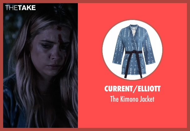 Current/Elliott   blue jacket from Pretty Little Liars seen with Hanna Marin (Ashley Benson)