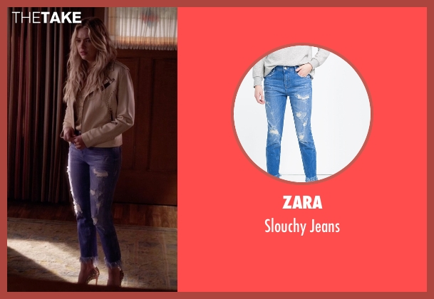 Zara blue jeans from Pretty Little Liars seen with Hanna Marin (Ashley Benson)