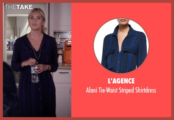 L'Agence blue shirtdress from Pretty Little Liars seen with Hanna Marin (Ashley Benson)