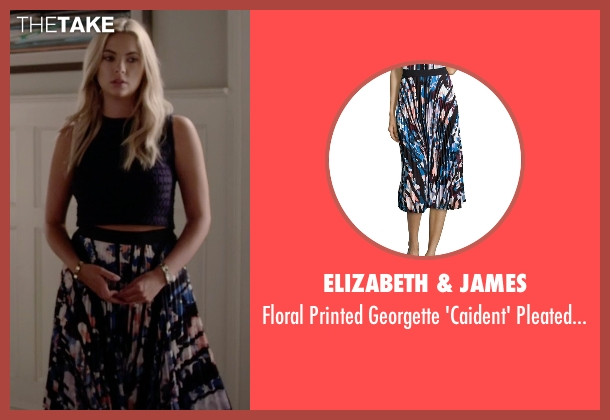 Elizabeth & James blue skirt from Pretty Little Liars seen with Hanna Marin (Ashley Benson)