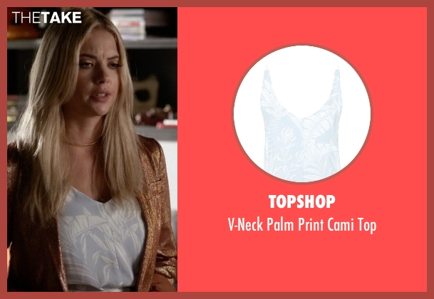 Topshop blue top from Pretty Little Liars seen with Hanna Marin (Ashley Benson)