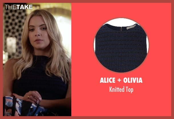 Alice + Olivia blue top from Pretty Little Liars seen with Hanna Marin (Ashley Benson)