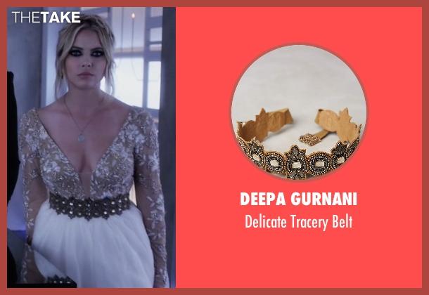 Deepa Gurnani brown belt from Pretty Little Liars seen with Hanna Marin (Ashley Benson)