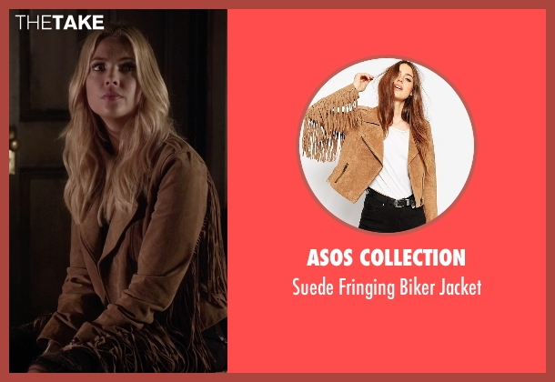 Asos Collection brown jacket from Pretty Little Liars seen with Hanna Marin (Ashley Benson)