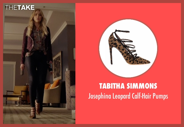 Tabitha Simmons brown pumps from Pretty Little Liars seen with Hanna Marin (Ashley Benson)