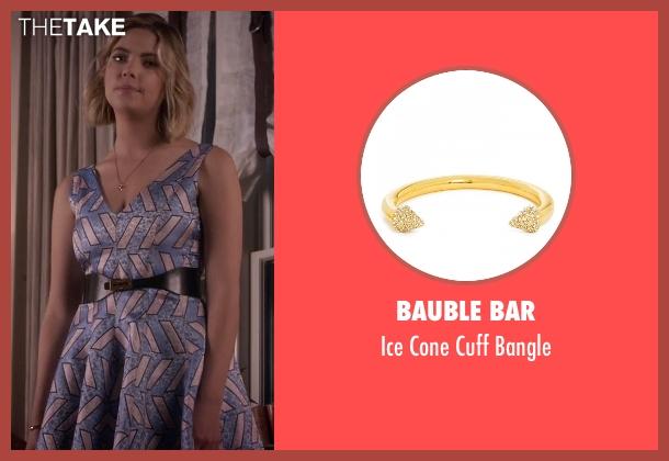 Bauble Bar gold bangle from Pretty Little Liars seen with Hanna Marin (Ashley Benson)