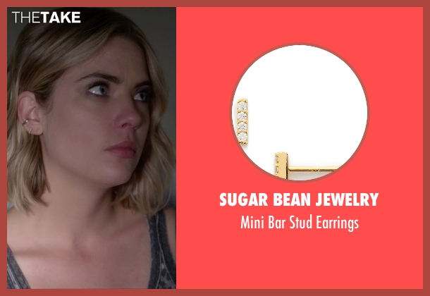 Sugar Bean Jewelry gold earrings from Pretty Little Liars seen with Hanna Marin (Ashley Benson)