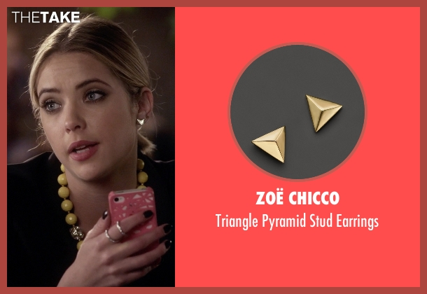 Zoë Chicco gold earrings from Pretty Little Liars seen with Hanna Marin (Ashley Benson)