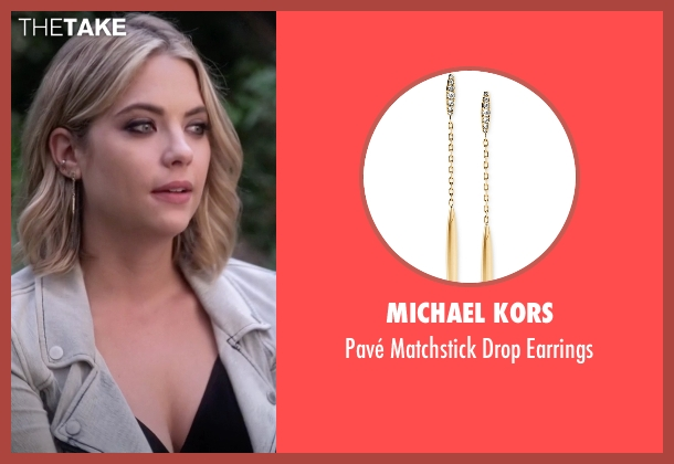Michael Kors gold earrings from Pretty Little Liars seen with Hanna Marin (Ashley Benson)