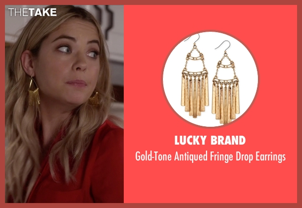Lucky Brand  gold earrings from Pretty Little Liars seen with Hanna Marin (Ashley Benson)