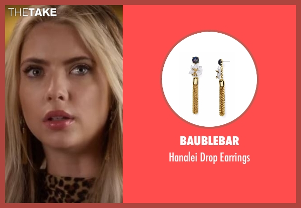 Baublebar  gold earrings from Pretty Little Liars seen with Hanna Marin (Ashley Benson)