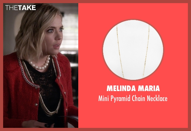 Melinda Maria gold necklace from Pretty Little Liars seen with Hanna Marin (Ashley Benson)