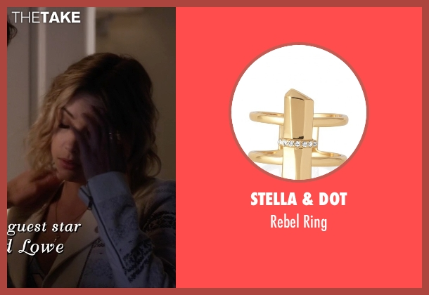 Stella & Dot gold ring from Pretty Little Liars seen with Hanna Marin (Ashley Benson)