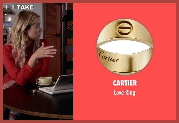 Cartier  gold ring from Pretty Little Liars seen with Hanna Marin (Ashley Benson)