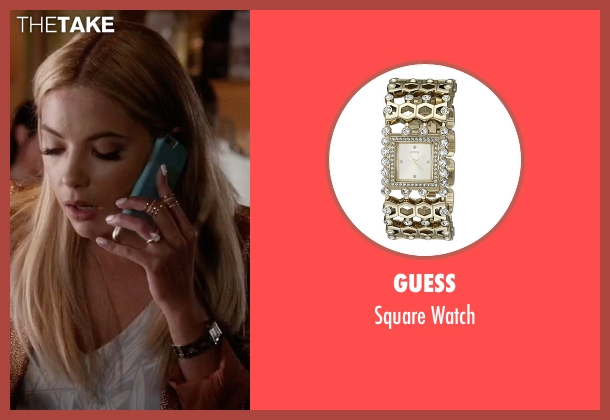 Guess gold watch from Pretty Little Liars seen with Hanna Marin (Ashley Benson)