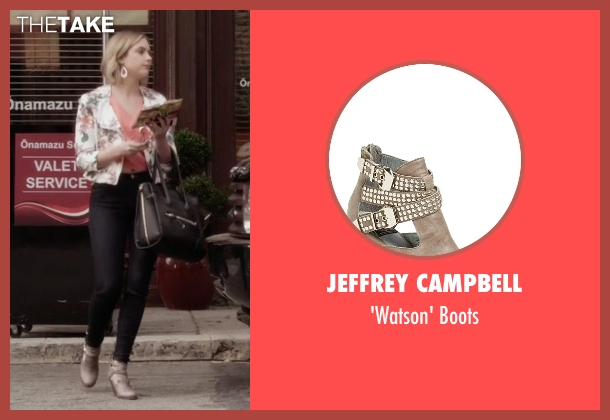 Jeffrey Campbell gray boots from Pretty Little Liars seen with Hanna Marin (Ashley Benson)
