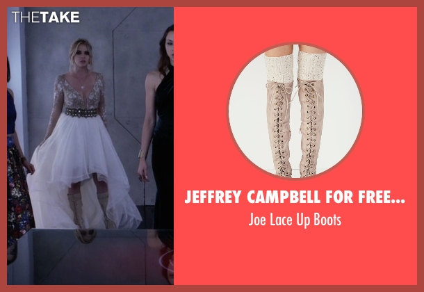 Jeffrey Campbell for Free People gray boots from Pretty Little Liars seen with Hanna Marin (Ashley Benson)