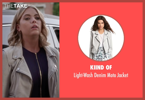 Kiind Of gray jacket from Pretty Little Liars seen with Hanna Marin (Ashley Benson)