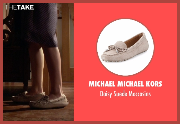 Michael Michael Kors gray moccasins from Pretty Little Liars seen with Hanna Marin (Ashley Benson)