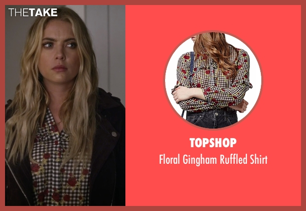Topshop gray shirt from Pretty Little Liars seen with Hanna Marin (Ashley Benson)
