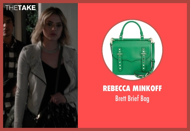 Rebecca Minkoff green bag from Pretty Little Liars seen with Hanna Marin (Ashley Benson)