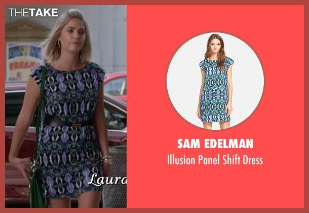 Sam Edelman green dress from Pretty Little Liars seen with Hanna Marin (Ashley Benson)