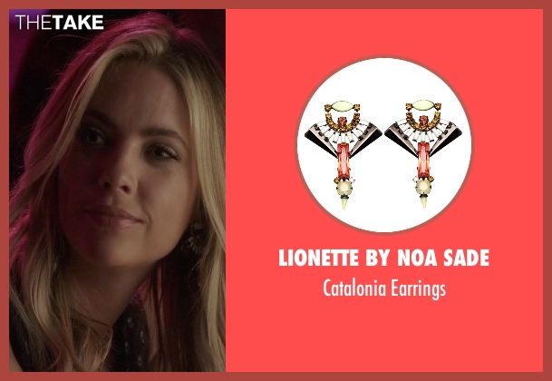 Lionette by Noa Sade green earrings from Pretty Little Liars seen with Hanna Marin (Ashley Benson)