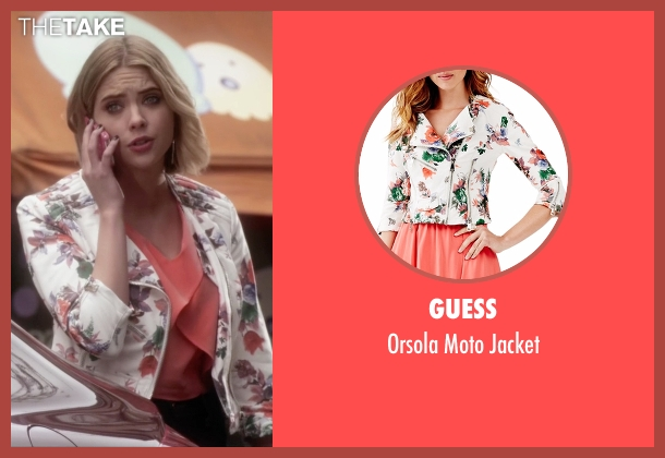 Guess jacket from Pretty Little Liars seen with Hanna Marin (Ashley Benson)
