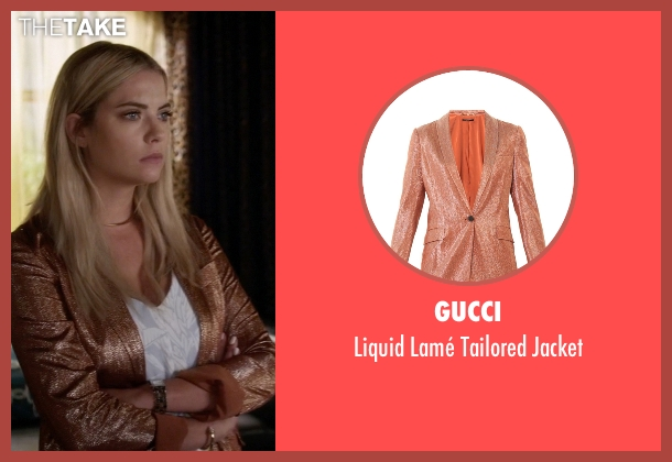 Gucci orange jacket from Pretty Little Liars seen with Hanna Marin (Ashley Benson)