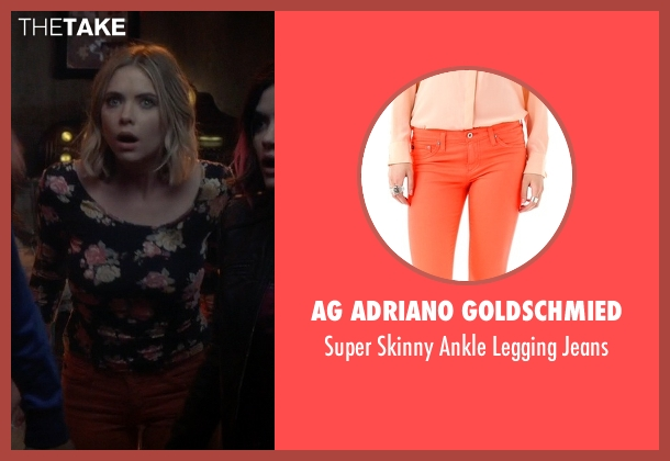 AG Adriano Goldschmied orange jeans from Pretty Little Liars seen with Hanna Marin (Ashley Benson)