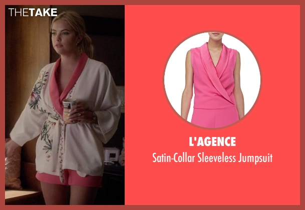 L'Agence pink jumpsuit from Pretty Little Liars seen with Hanna Marin (Ashley Benson)