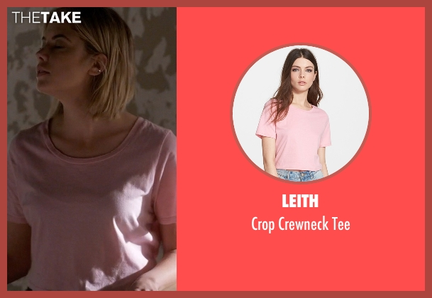 Leith pink tee from Pretty Little Liars seen with Hanna Marin (Ashley Benson)