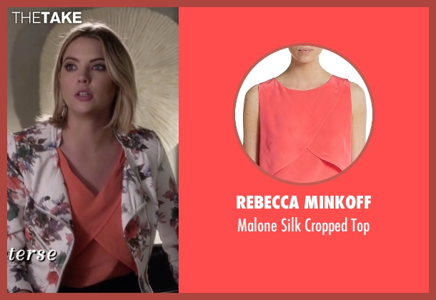 Rebecca Minkoff pink top from Pretty Little Liars seen with Hanna Marin (Ashley Benson)