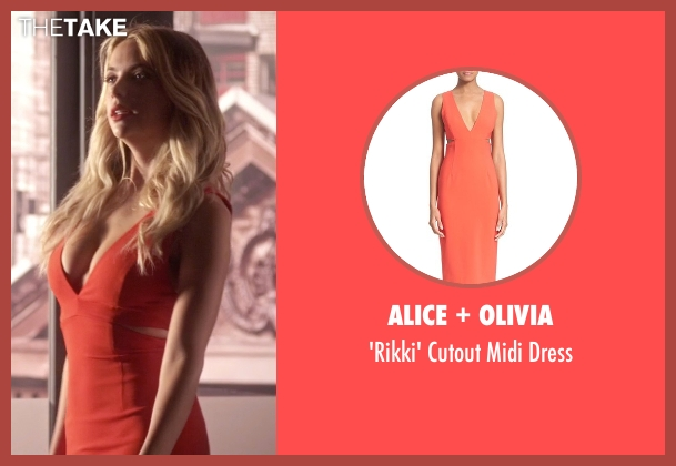 Alice + Olivia red dress from Pretty Little Liars seen with Hanna Marin (Ashley Benson)