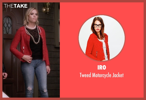 IRO red jacket from Pretty Little Liars seen with Hanna Marin (Ashley Benson)