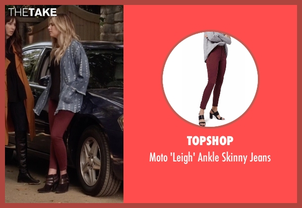 Topshop  red jeans from Pretty Little Liars seen with Hanna Marin (Ashley Benson)